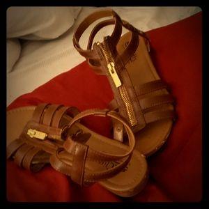 Ladies brown sandal